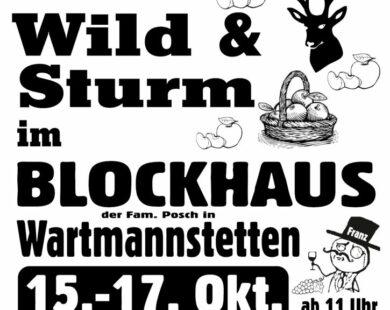 Wild & Sturm im Blockhaus
